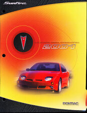 2001 Pontiac Sunfire Original Car Product Information Guide Brochure like