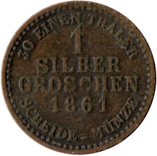 1861 / 1 SILBER GROSCHEN / AUSTRIA / OSTERREICH   #WT3208