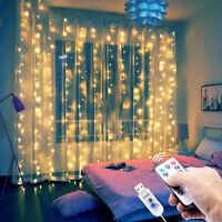 3M LED Fairy String Lights Curtain Backdrop Window Wedding Decor Christmas Party