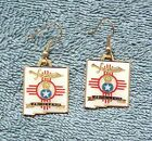 2000 WSA NEW MEXICO MASIONIC SHRINERS EARRINGS