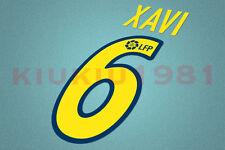 Barcelona Xavi #6 2002-2004 Homekit Nameset Printing