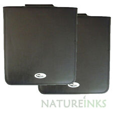 2 x Neo 240 Synthetic Leather CD DVD discs storage carry wallet strong zip