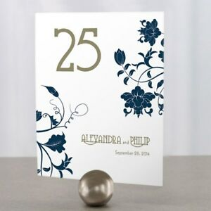 Personalized Floral Orchestra Wedding Table Numbers