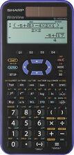 Sharp EL-W531 XG VL Violett Schulrechner Solar Taschenrechner natürliche Anzeige