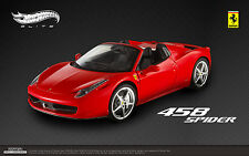 Hot Wheels Elite Ferrari 458 Italia Araña Rojo 1/18 Edición Limitada