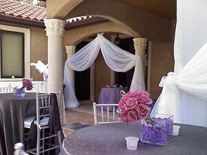 "Wedding Backdrop Drapes  panels 12'x114"" white, ivory, black, Tan, Pink."