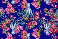 WE160 Octopus Floral Rose Neptune & The Mermaid Tokyo Milk Cotton Quilt Fabric