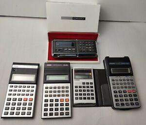 Collection Of Casio Calculators Sl 804 fx 82b fx 100 fx 82lb Computer Quartz CQ1