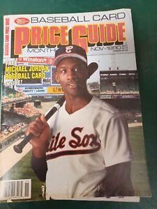 SCD Baseball Card Price Guide Mag MICHAEL JORDAN November 1990 Insert Cards SH