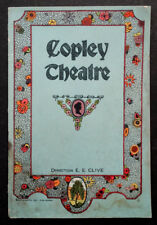 1926 Vintage COPLEY THEATRE Boston VAUDEVILLE Broadway Souvenir Program
