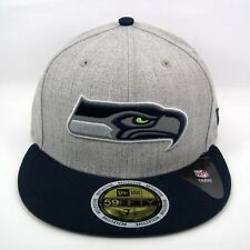 New Era Men's NFL Seattle Seahawks Reflective Logo 5950 Fitted Cap - Size 7 1/4