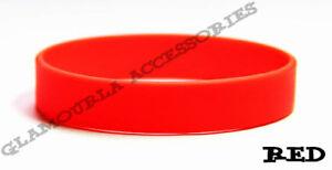 Silicone Rubber Sport Wristband Cuff Bracelet Band Sz MEN WOMEN KID GLOW IN DARK