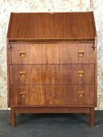 60er 70er Jahre Teak Sekretär Kommode Danish Modern Desk Design Denmark 60s 70s