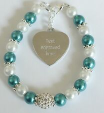 Engraved Personalised Ovarian Cancer Awareness Bracelet Charity Fundraising Gift