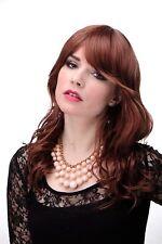 Perruque pour Femme Long Ondulés Rouge Braun Mélange Léger Wetlook Frange 5019