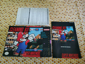 Official SNES Cleaning Kit - Super Nintendo - Authentic - Box and Manual Only!