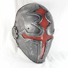 Airsoft Paintball Silver Red Wire mesh Protection Mask Cross Halloween Mask