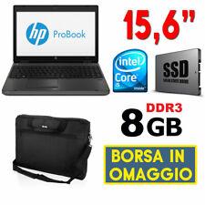"PC PORTATILE NOTEBOOK HP PROBOOK 6560B 15.6"" CORE I5 SSD RAM 8GB SERIALE RS232"