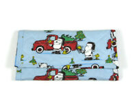 Snoopy Christmas Wallet Peanuts Quilted Trifold Women's Handmade Zipper Pocket