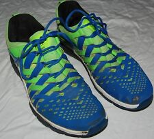 Nike Free Trainer Mens Shoes Sneakers 15 Blue Neon Green Lace Up Running Train