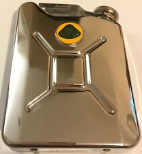 LOTUS Car Petrol Can / Jerry Can Stainless Steel 5oz Drinking Hip Flask