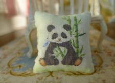 Miniature Dollhouse Cute Panda in Bamboo 1:12 Scale Pillow