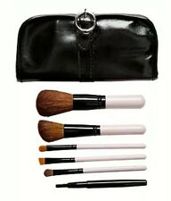 CROWN BRUSH-BLACK 6 PIECE BELLEZA SET WITH BUCKLE CASE