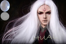 """8-9-10"""" 1/3 BJD White Straight Cool Long Ancient Wig LUTS Doll SD DZ Pullip Hair"""