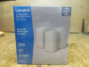 Linksys Velop Dual Band AC3600 Intelligent Mesh WiFi Router - 3 Pack ( LOT CCH)