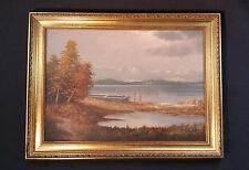 Pintor de Chiemsee: Original Pintura al óleo firmado FELBER. Chiemsee paisaje