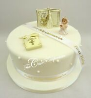 1st First Holy Communion Girl or Boy Bible Scroll Ribbon Cake Topper Ornaments