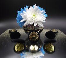 "Inglaterra Metal Oro tejido de terciopelo cubierto botones negro talla 28 mm .1 .1"""
