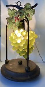 ART NOUVEAU MURANO  GLASS GRAPE CLUSTER CHANDELIER LAMP LIGHT
