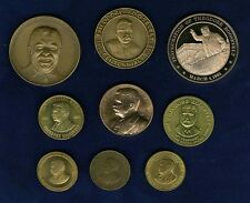 """U. S.  20th CENTURY """"THEODORE ROOSEVELT"""" TOKENS // MEDALS, GROUP LOT OF (9)"""