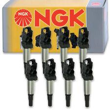 8 pcs NGK Ignition Coil for 2004-2015 BMW X5 4.8L 4.4L V8 - Spark Plug Tune rw