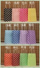 Small Size Polka Dot Paper gift favor bag,party,candy color shopping bag handle