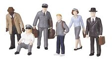 MTH 30-11048, O Gauge, 6-Piece Figure Set #4 - Bus Station Employees and Patrons