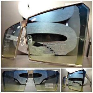 Übergröße Vintage Retro Schild Stil Sonnenbrille Silberrahmen Aqua & Lime Linse