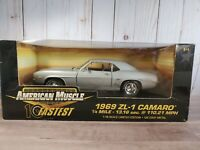 Ertl American Muscle 1969 Chevy Camaro ZL-1 1:18 Scale Diecast Model Car Silver