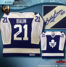 Bobby Baun Signed Toronto Maple Leafs Blue CCM Jersey