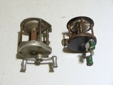 2 moulinets anciens à tambour tournant ( Angelrolle carrete mulinello reel )
