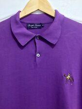 Ralph Lauren Purple Label Manica Lunga Da Uomo L/S Polo Leggero Maglione Taglia: XXL