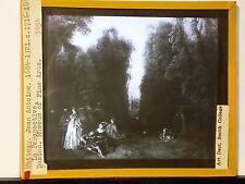 """La Perspective"", Jean-Antoine Watteau, Magic Lantern Glass Artwork Slide"