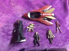 star wars 4 action figures lot ship and 1 large toy anakin yoda luke darth maul!