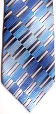 """Crazy Horse Men's Silk Tie 59"""" X 3.75"""" Multi-Color Geometric Striped"""