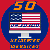 50 USA backlinks high domain authority Backlins DA 20-100 - Report File incl.