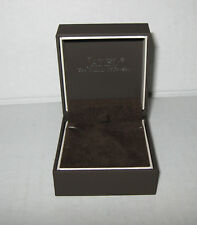 """New Jared Brown Small Necklace Jewelry BOX ONLY 2 1/4"""" x 2 1/2"""" x 1 1/2"""""""