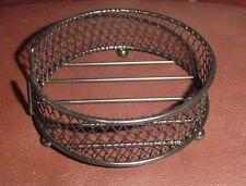 New listing Black Wire Mesh Round Coaster Holder #14643