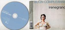 IRENE GRANDI CD single 3 TRACCE Vasco Rossi BUON COMPLEANNO 2003 MADE in GERMANY