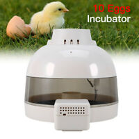 Automatic 10 Eggs Incubator Hatcher Chicken Duck Poultry Turning Hatching Quail
